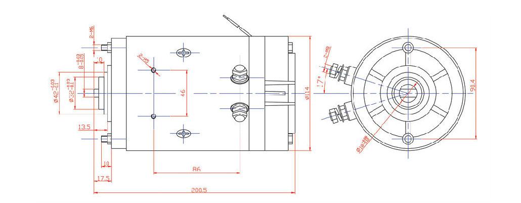 12v Dc Motor 1hp For Hydraulic Power Packs