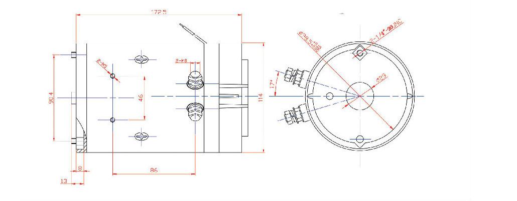 24v Motor Zd2405 24v Dc Motor Hydraulic Power Unit 24v