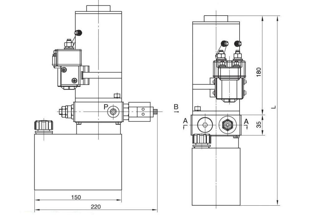 electric stacker power packs pallet truck power units 12v