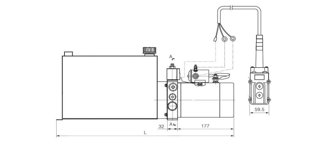 Dump Trailer Hydraulic Pump 12 Volt Dc 24 Volt Dc 1 5kw 2